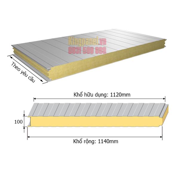 panel cách nhiệt pu dày 100